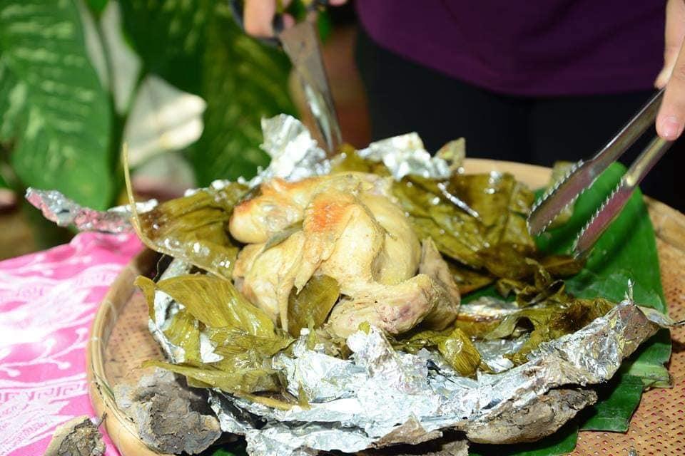 Gà nướng bùn thơm ngon - Du lịch C2T- ẩm thực Bến Tre