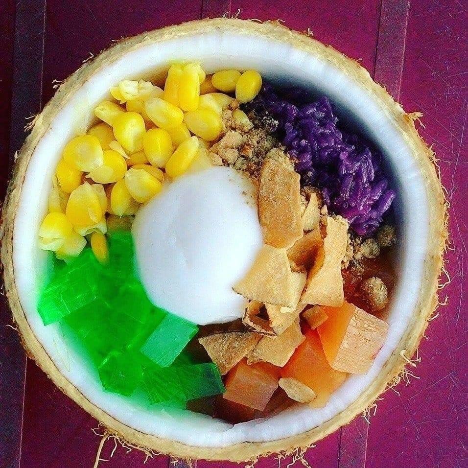 """Ảnh chụp """"CHÉN"""" kem xôi dừa Bến Tre - Du lịch C2T"""