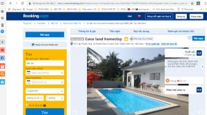 Trang booking của Homestay Bến Tre Cocoland, Homestay Bến Tre, du lịch C2T