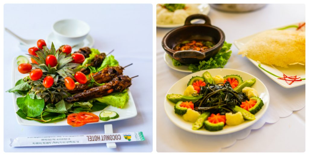 Món ăn tại khách Sạn Dừa - Ben Tre Riverside Resort
